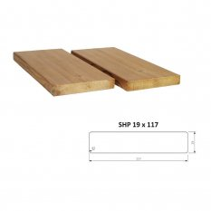 Hoblované prkno SHP 19 x 117 mm - THERMOWOOD
