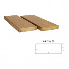 Hoblované prkno SHP 19 x 92 mm - THERMOWOOD