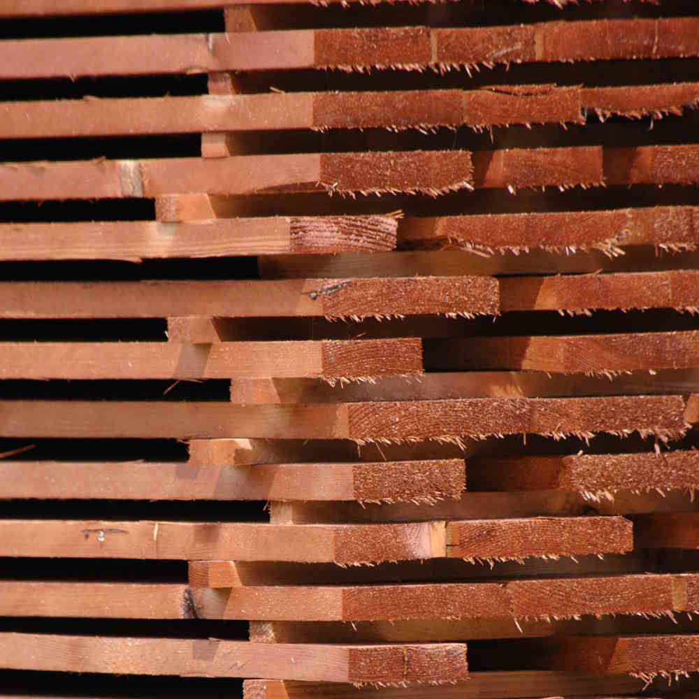 uskladnění dřeva v areiálu